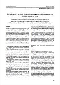 Fixação com cavilhas ósseas na osteocondrite dissecante do joelho: relato de caso