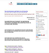 Autoenxerto de quadríceps na reconstrução do ligamento cruzado anterior: uma revisão da literatura